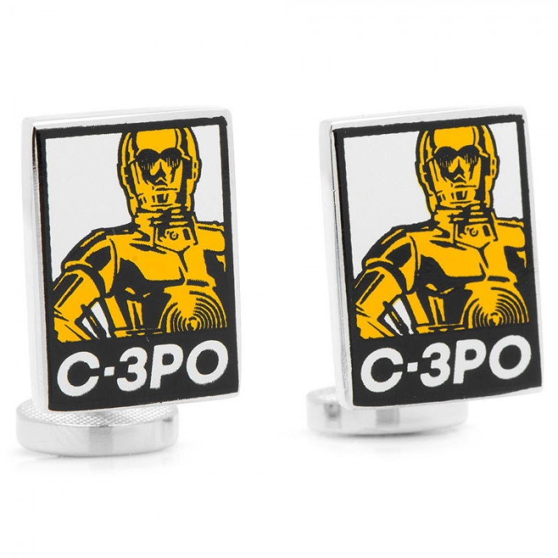 manschettenkn pfe c 3po pop art star wars 39 90. Black Bedroom Furniture Sets. Home Design Ideas