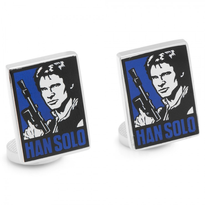 manschettenkn pfe han solo pop art star wars 39 90. Black Bedroom Furniture Sets. Home Design Ideas