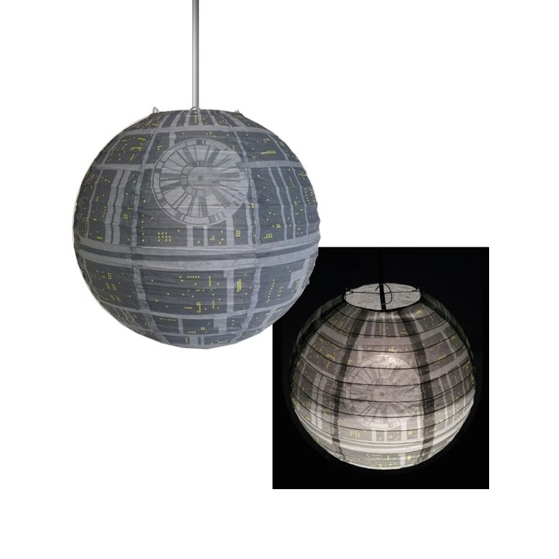 todesstern deckenlampe aus papier 30 cm star wars 9 95. Black Bedroom Furniture Sets. Home Design Ideas