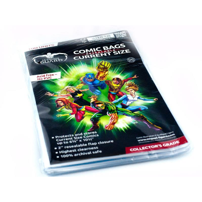 Comic Bags - Current Size, Resealable (100) - Ultimate Guard