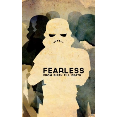 Sheet Metal Sign - Fearless Trooper, 45 x 28 cm - STAR WARS