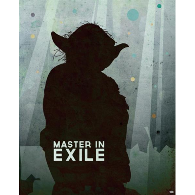 Sheet Metal Sign - Master In Exile, 45 x 28 cm - STAR WARS