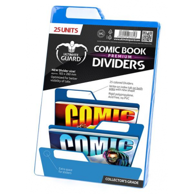 Comic Book Dividers - Blue, Premium (25) - Ultimate Guard