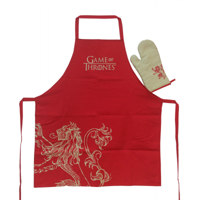 Game of Thrones cooking apron with oven mitt Lannister