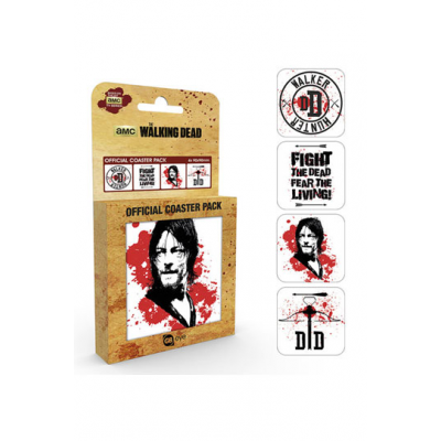 Walking Dead Coaster 4-pack Daryl