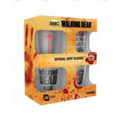 Walking Dead Shotglass 4-Pack Symbols