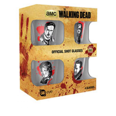 Walking Dead Shotglass 4-Pack Characters New