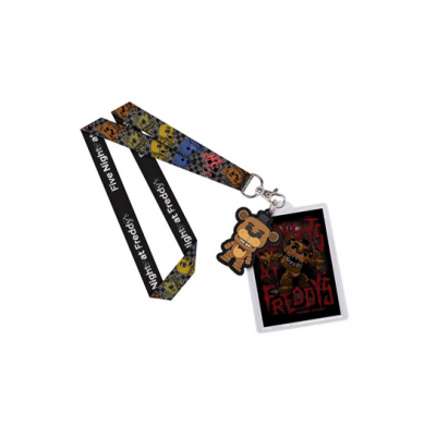 Five Nights at Freddys Lanyard with Rubber Keychain Freddy