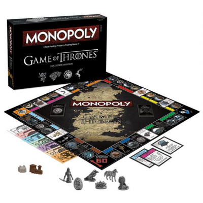 Game of Thrones Board Game Monopoly Collectors Edition,...
