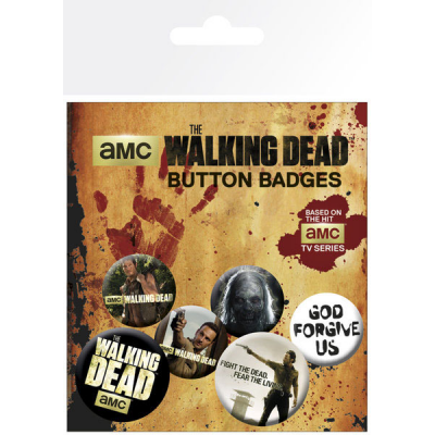 Walking Dead Ansteck-Buttons 6er-Pack Mix