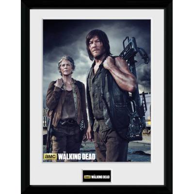 Walking Dead Framed Poster Carol and Daryl 45 x 34 cm