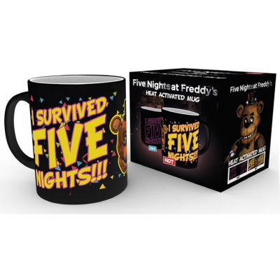 Five Nights at Freddys Heat Change Mug I Survived
