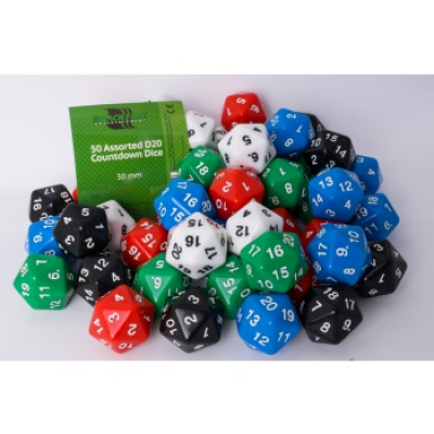 Blackfire Dice - Assorted D20 Countdown Dice 30 mm