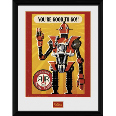 Fallout Poster im Rahmen Red Rocket 45 x 34 cm heo Exclusive
