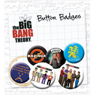 Big Bang Theory Ansteck-Buttons 6er-Pack Icons
