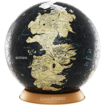 Game of Thrones 3D Globe Puzzle Unknown World (240 Teile)
