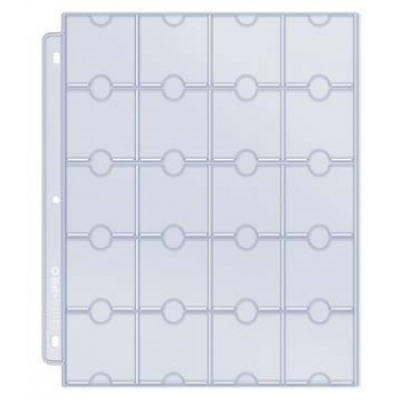 UP - 20-Pocket Platinum Page for Coins and Tokens, single