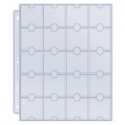 UP - 20-Pocket Platinum Page for Coins and Tokens, einzel