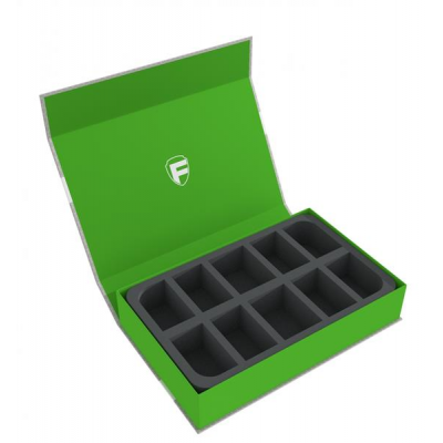 Feldherr Magnetic Box green for 10 Star Wars X-Wing ships...