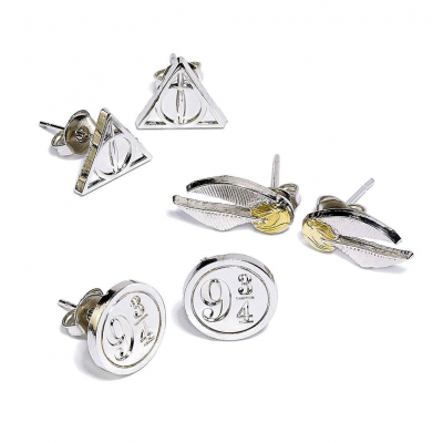 Harry Potter Earrings 3-Pack Snitch/Deathly...