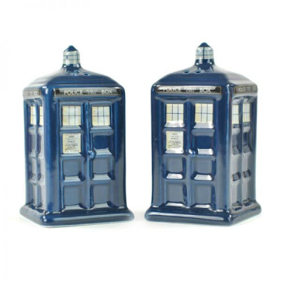 Doctor Who Salt and Pepper Pots Tardis