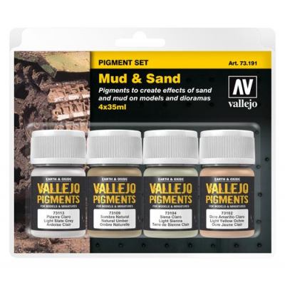 Vallejo Pigment Set Mud & Sand (4)