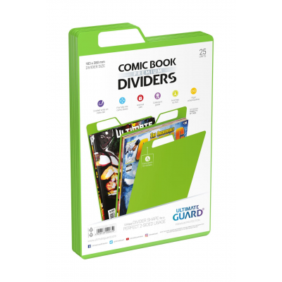 Ultimate Guard Premium Comic Book Dividers Green (25)