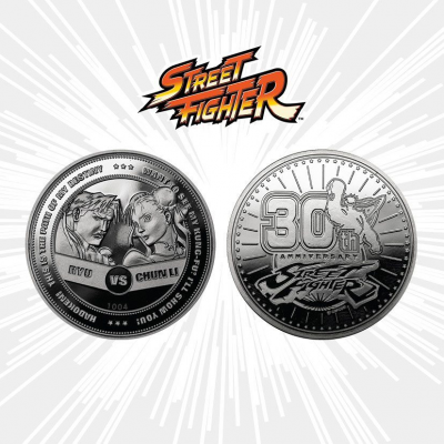 Street Fighter Collectable Coin 30th Anniversary Ryu vs...