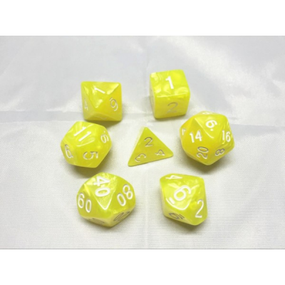 HD Dice - Pearl Dice Set (7 pcs), Bright Yellow
