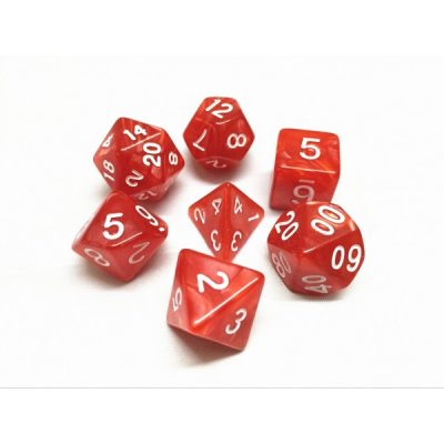 HD Dice - Pearl Dice Set (7 pcs), Red