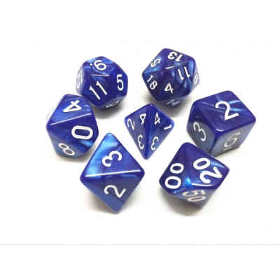 HD Dice - Pearl Dice Set (7 pcs), Blue Pearl