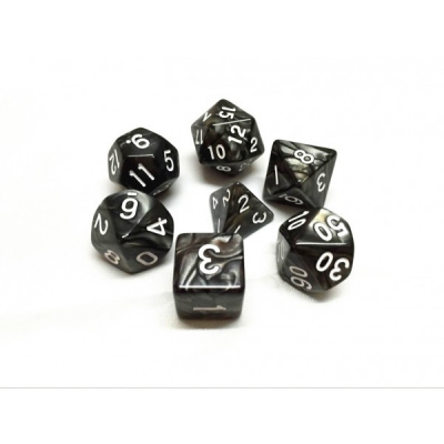 HD Dice - Pearl Dice Set (7 pcs), Black