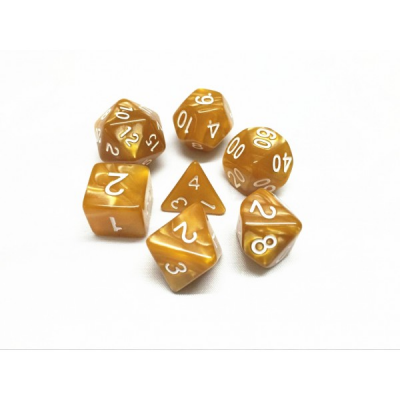 HD Dice - Pearl Dice Set (7 pcs), Gold