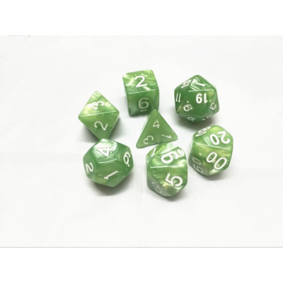 HD Dice - Pearl Dice Set (7 pcs), Pale Green