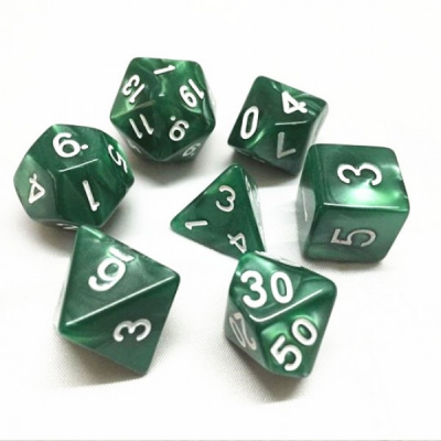 HD Dice - Pearl Dice Set (7 pcs), Green