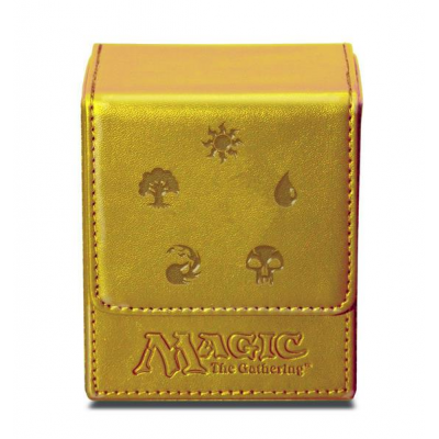 UP - Deck Box Flip - Magic Mana - Gold