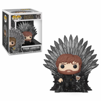 Game of Thrones POP! Deluxe Vinyl Figur Tyrion Sitting on Iron Throne 15 cm