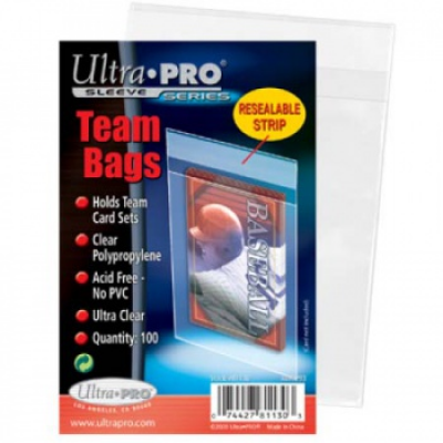 UP - Team Bags - Resealable Sleeves (100 Bags)