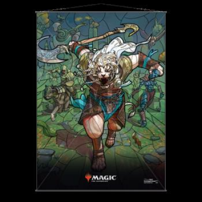 UP - Stained Glass Wall Scroll Magic: The Gathering - Ajani