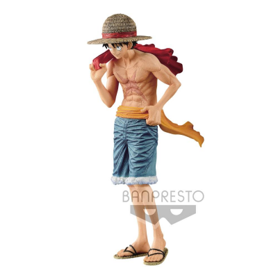 One Piece magazine PVC Statue Monkey D. Ruffy Cover of...