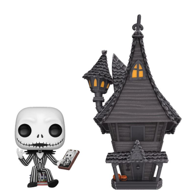 Nightmare before Christmas POP! Town Vinyl Figur Jack & Jacks House 9 cm