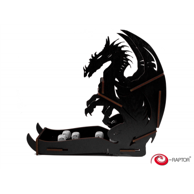 Dice Tower Large: Dragon (Black)