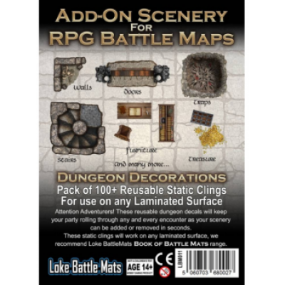 Add-On Scenery for RPG Maps - Dungeon Decorations, Englisch