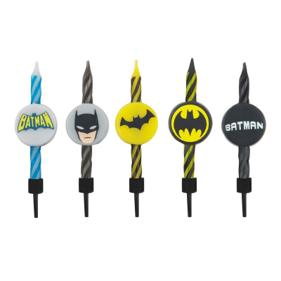 DC Comics Set of 10 Birthday style Candles Batman logo