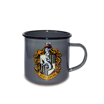 Harry Potter Emaille Tasse Hufflepuff Logo