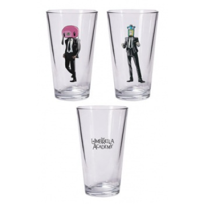 Umbrella Academy: Hazel and Cha Cha pint glass set