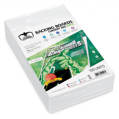 Ultimate Guard Comic Backing Boards Thick Current Size (100)