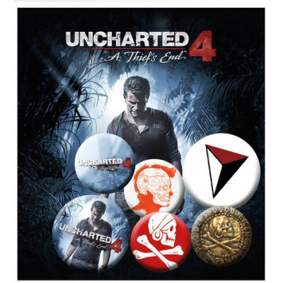 Uncharted 4 Pin Badges 6-Pack Mix 1