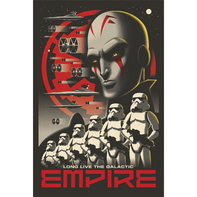 Poster - Rebels, Long Live The Galactic Empire 61 x 91 cm...