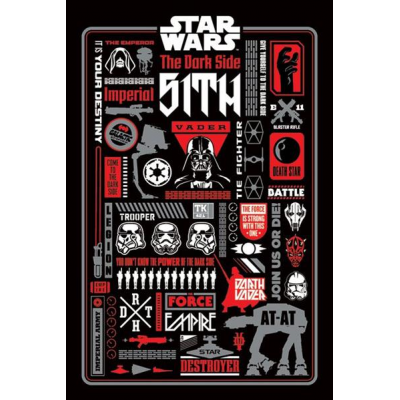 Poster - Dark Side Icongraphic 61 x 91 cm - STAR WARS